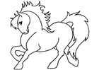 Coloring page pony