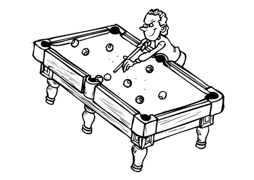 pool table coloring pages - photo#13