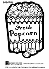 Coloring pages popcorn