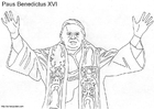Coloring page Pope Benedict XVI