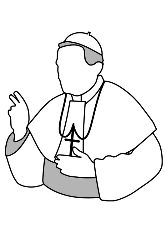 Coloring page pope