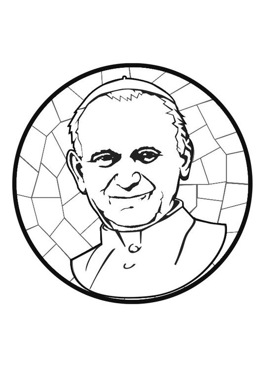 Coloring Page Pope John Paul Ii Img 29256