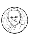 Coloring page pope John Paul II
