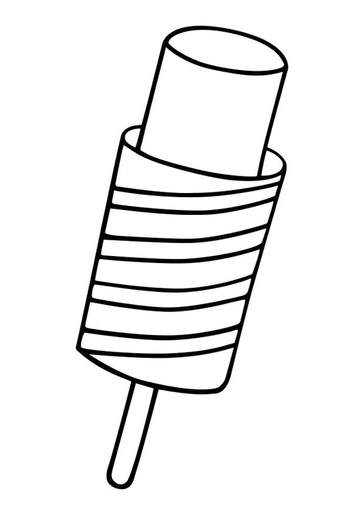 Coloring page popsicle