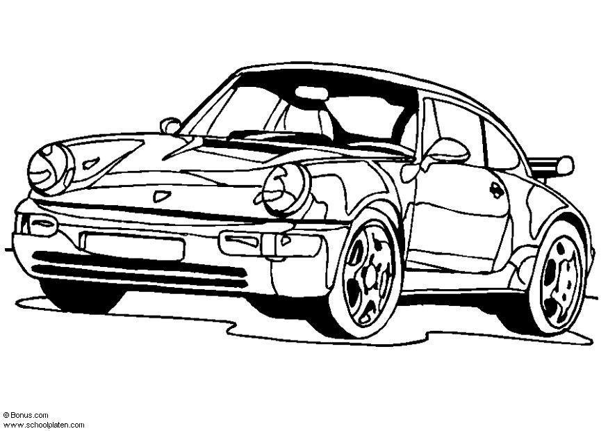 Coloring Page Porsche 911 Turbo Free Printable Coloring Pages Img 5443