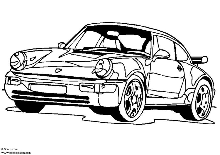 Coloring page Porsche 911 Turbo