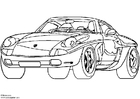 Coloring page Porsche Showcar
