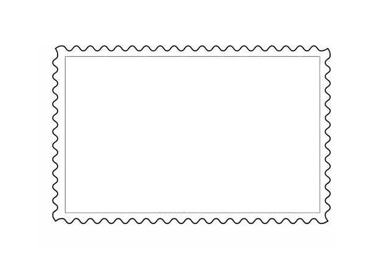 Coloring page postage stamp 1