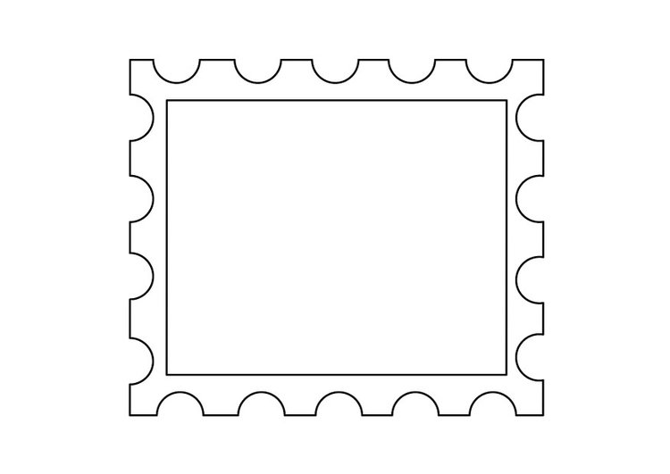 Coloring page postage stamp 2