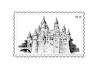 Coloring pages postage stamp 3
