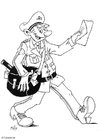 Coloring pages postal worker