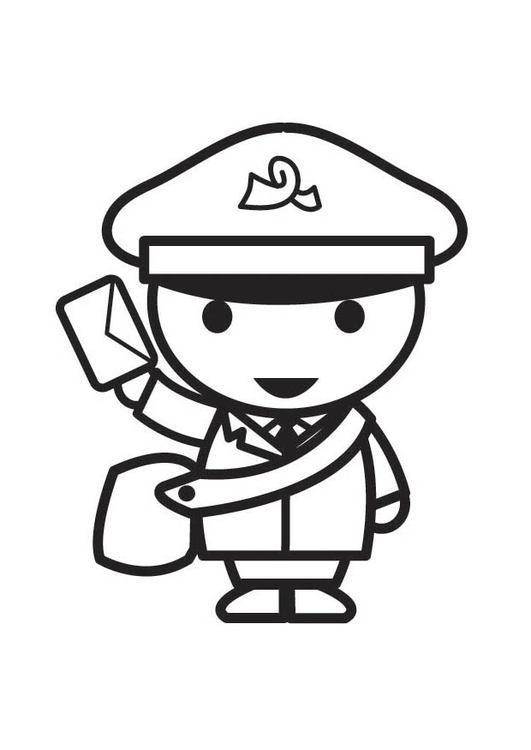 Coloring page Postman