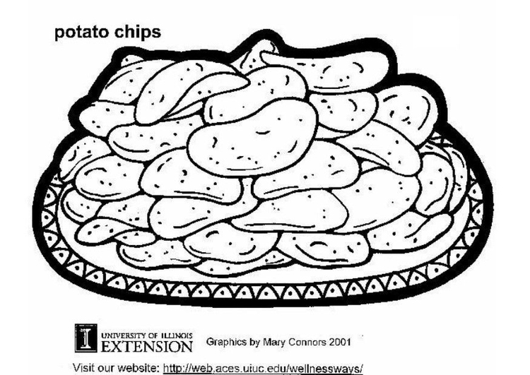 Coloring page potato chips