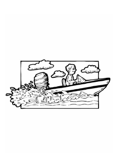 Coloring page power boat