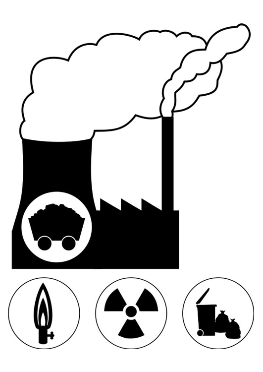 Coloring page power station