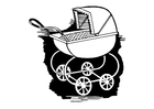 Coloring pages pram