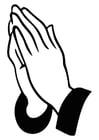Coloring page praying