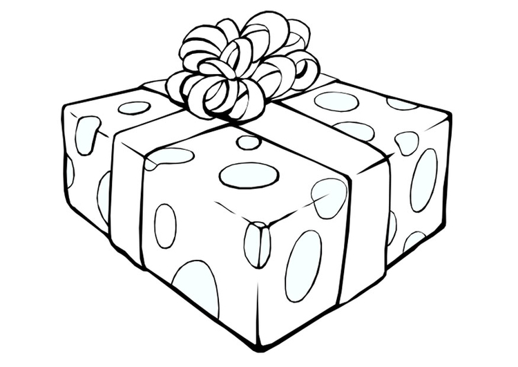 Coloring page present