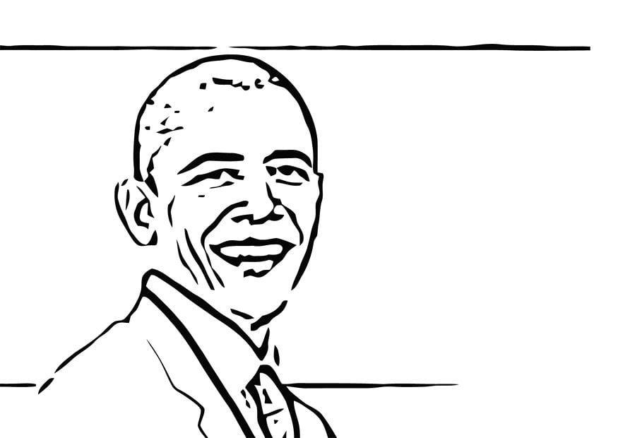 Coloring page Barack Obama img 12689