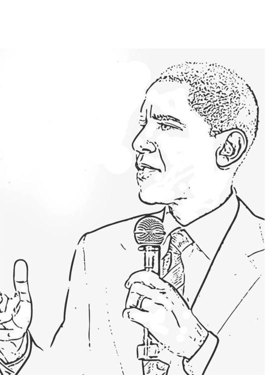 Barack Obama Coloring Page | Worksheet | Education.com | 750x531
