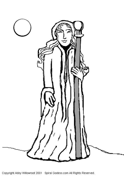 coloring page priest