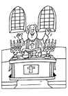 Coloring pages priest
