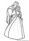 Coloring pages prince and princess