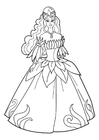 Coloring pages princess at party
