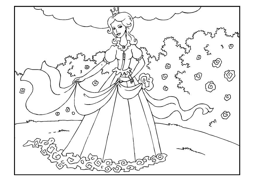 Coloring Page Princess In Garden Img 22650