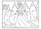 Coloring page princess