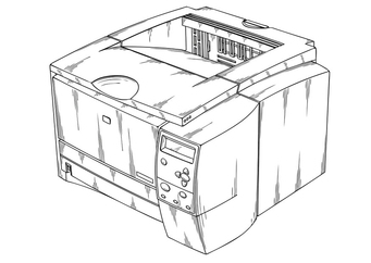 Coloring page printer