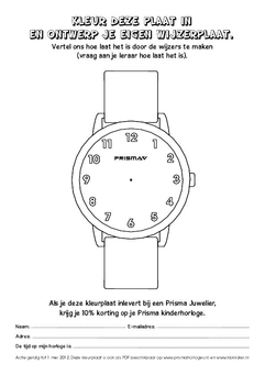 Coloring page Prisma Watch