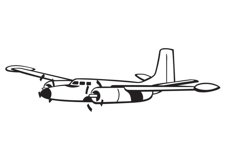 Coloring page Propeller Aeroplane