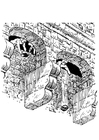 Coloring page protection of castle