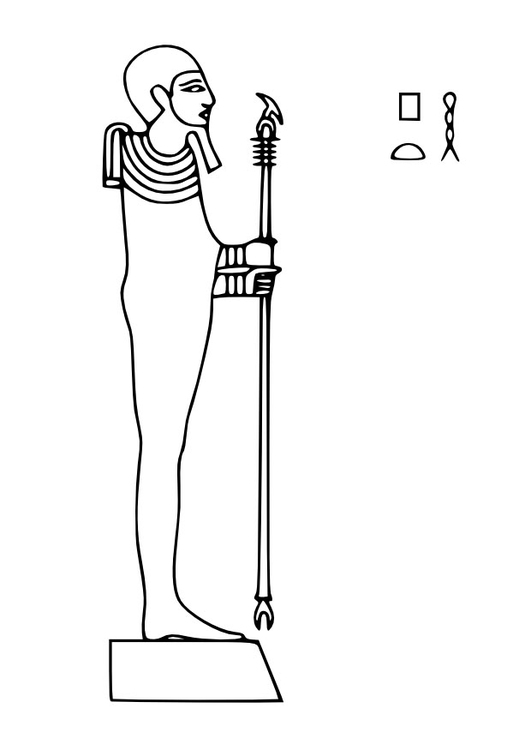 Coloring page Ptah