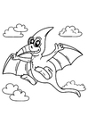 Coloring pages pteranodon flying dinosaur