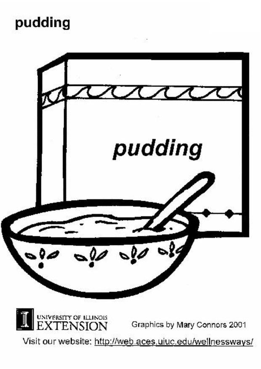 Coloring page pudding