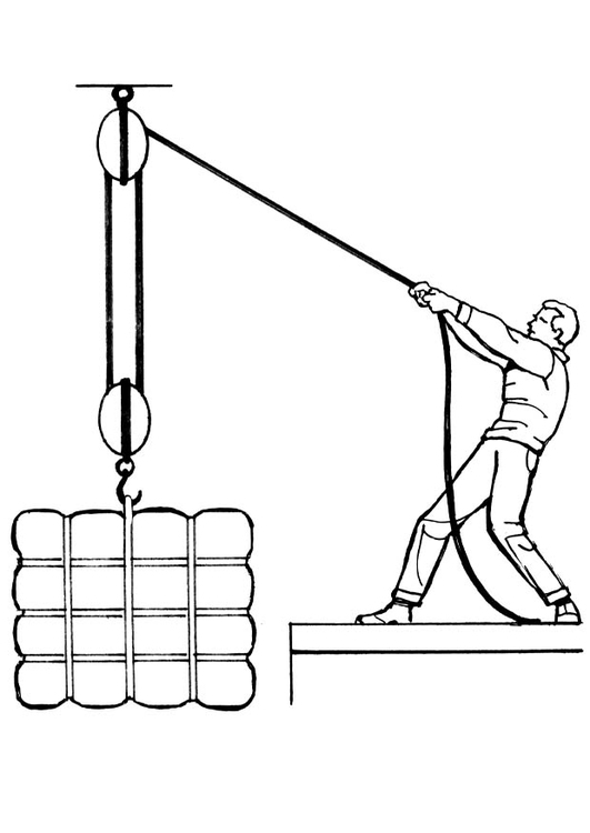 Coloring page pulley