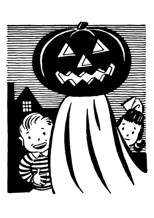 Coloring page pumpkin