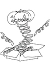 Coloring page pumpkin in box
