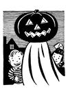 Coloring page pumpkin