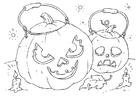 Coloring page pumpkins