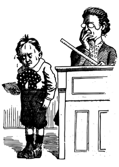 Coloring page pupil and teacher