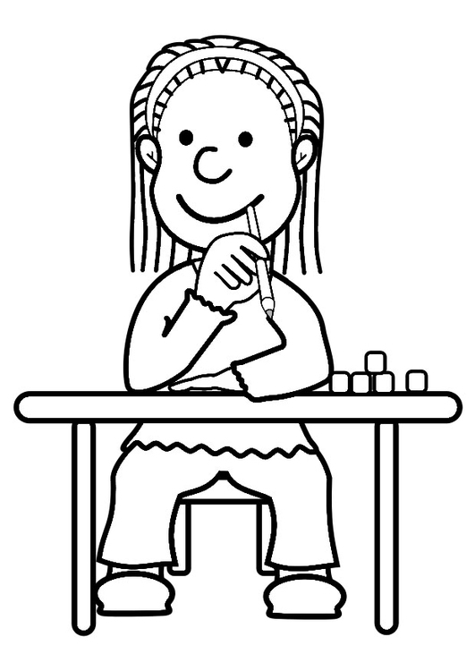 Coloring page pupil