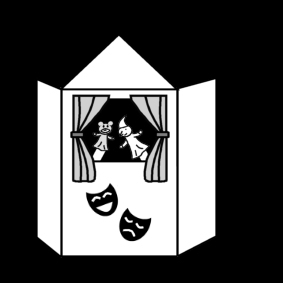 Coloring page puppet theatre
