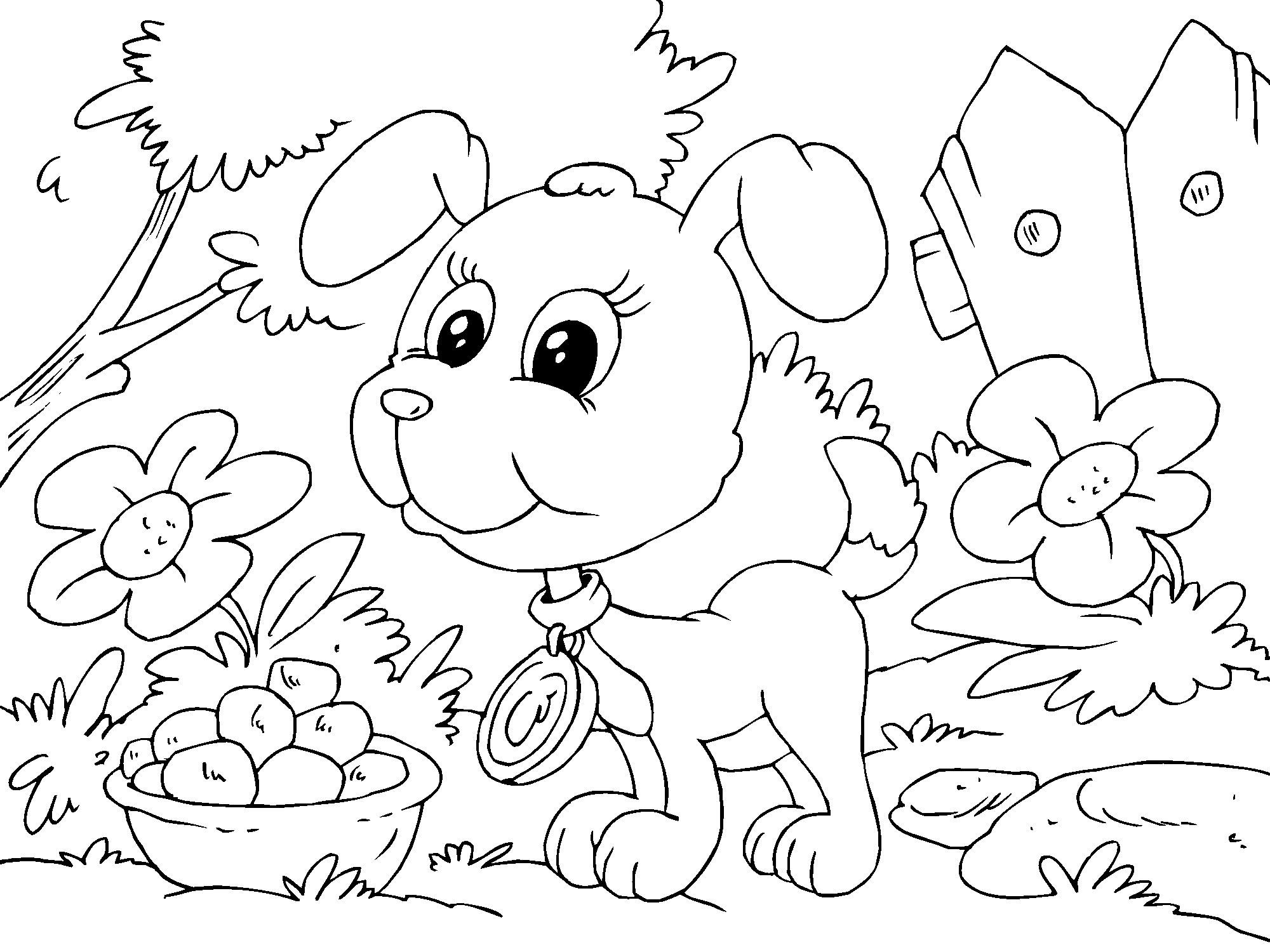 coloring page puppy img 22682 labrador with puppies printable