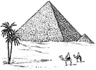 Coloring pages Pyramid