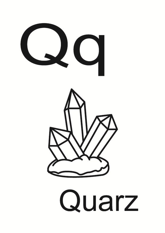 Coloring page q