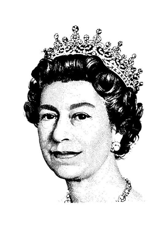 Coloring Page Queen Elizabeth II