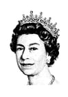 Coloring pages Queen Elizabeth II